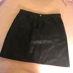 Faux Leather Skirt - Fits like an 8